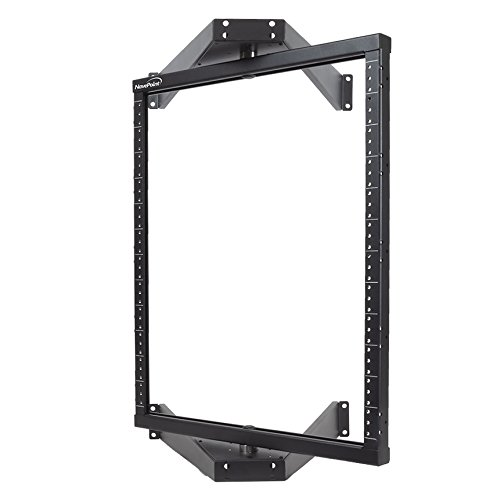 - NavePoint 12U Flat Pack wall Mount Pivoting Open Frame Low Profile Network Server Rack