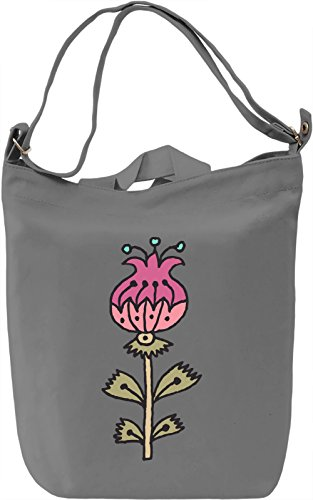 Flower Borsa Giornaliera Canvas Canvas Day Bag| 100% Premium Cotton Canvas| DTG Printing|