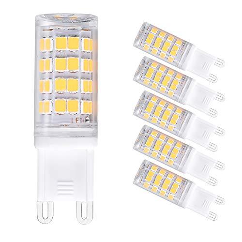 G9 led Light Bulbs, 4W 400lm(40W Halogen Bulb Equivalent),120V G9 Base Daylight White 6000K Pack of 5 ()