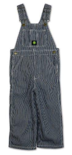 John Deere Kids Boys Hickory Stripe Bib Overall - Sizes: 4-7