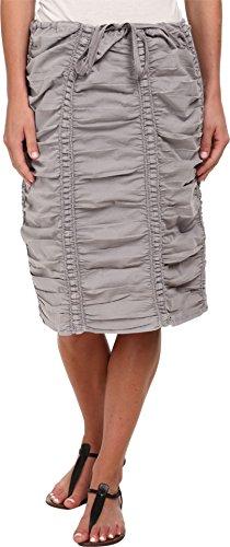 Shirred Panel (XCVI Women's Double Shirred Panel Knee Length Skirt Cirrus Grey Skirt XL (Women's 16))