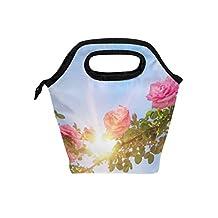 Saobao - Bolsa térmica para el almuerzo, diseño de rosas, para jardín o para el cielo, ideal para el trabajo en la escuela, la oficina, viajes al aire última intervensión