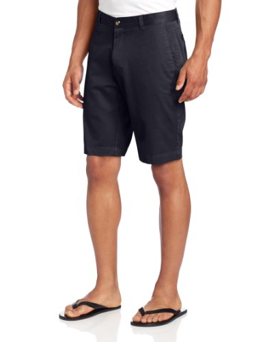 Louis Raphael Men's Slim Fit Garment Dye Short, Aviator Navy, 35