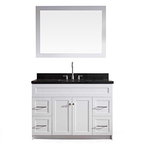 White Wood Vanity Top (Ariel F049S-AB-WHT Hamlet 49