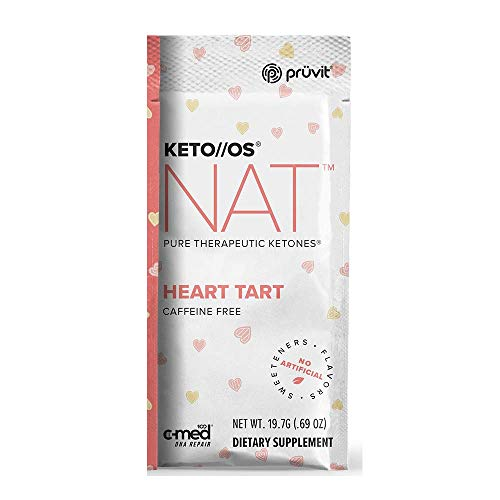 Pruvit Keto//OS NAT Caffeine Free, BHB Salts Ketogenic Supplement - Beta Hydroxybutyrates Exogenous Ketones for Fat Loss, Workout Energy Boost Through Fast Ketosis. 20 Sachets (Heart Tart) by Keto//OS NAT (Image #2)