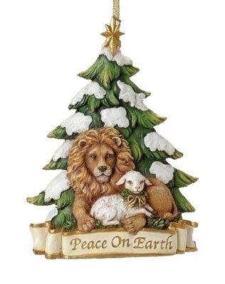 "5.25"" Lion And Lamb Ornament Peace On Earth ... - Amazon.com: 5.25"