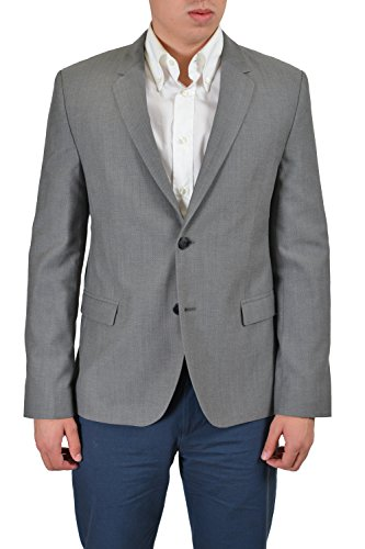Hugo Boss Arnando Men's Gray Wool Two Button Sport Coat Blazer US 40R IT ()