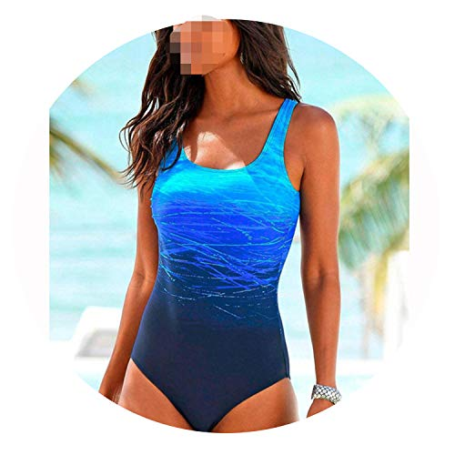 Large Size 2019 Sexy One Piece Swimsuit Female Women Vintage Swimwear XXL,BK1060,L