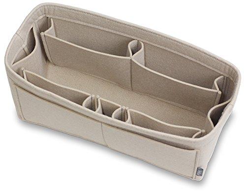 (Pelikus Felt Purse and Tote Organizer Insert/Sturdy Structured Handbag Shaper 6 Sizes (Large-Slender, Beige))
