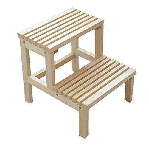 ZGQA-AOC Escalera de madera maciza taburete Taburete multifuncional doble Escalera del taburete Ninos Paso taburete taburete escaleras