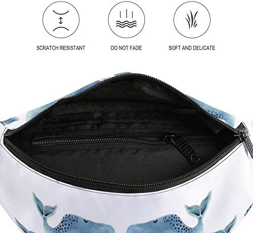 青のクジラのさや-小サイズ ウエストバッグ ショルダーバッグチェストバッグ ヒップバッグ 多機能 防水 軽量 スポーツアウトドアクロスボディバッグユニセックスピクニック小旅行