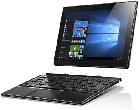 Lenovo IdeaPad Miix 310, 10.1-Inch Windows Laptop, 2 in 1 Laptop, (Intel Atom X5 Z8350, 1.44 GHz, 2 GB RAM, 64 GB eMMC, Windows 10), Black, 80SG001FUS