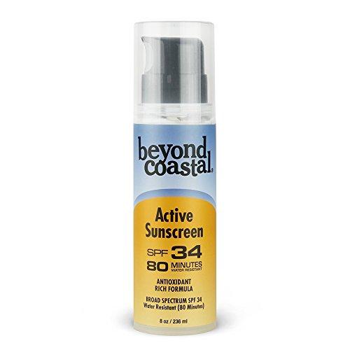 - Beyond Coastal Active SPF 34 Sunscreen, 8 oz Pump