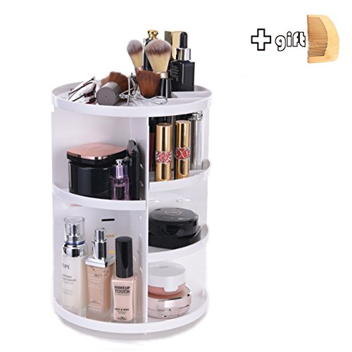 INVENTORY CLEANNING Cosmetic Organizer - Total Same Products as Others - Adjustable Makeup Shelf & Box Orgainize with Multi-function - Large Capacity 7 Layers,360 Degree Rotation,White