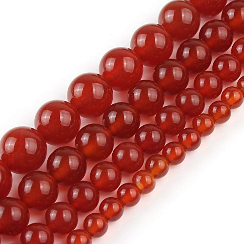 Yochus 10mm Red Onyx Agate Round Loose Stone Beads Natural Stone Beads for Jewelry Making