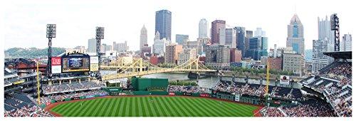 ArtsyCanvas PNC Park - Baseball Field - 36x12 Matte Poster Print Wall Art