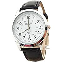 Pocciol Watch,Soft Elegant Analog Luxury Sports Leather Strap Quartz Mens Wrist Watch
