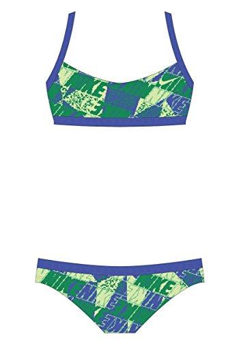 Nike Girl's Graphic Crossback Bikini 2-Piece Swimsuit 7 ParamountBlue (Piece Nike Swimsuit 2)