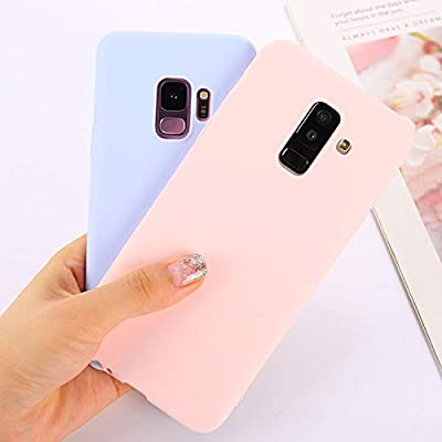 Candy Color Case for Samsung Galaxy A50 A70 A5 2017 J4 J6 Plus J8 A8 A6 A7 2018 S8 S9 S10 Plus S10E Note9 M20 Soft Cover,Navy,Sector 0