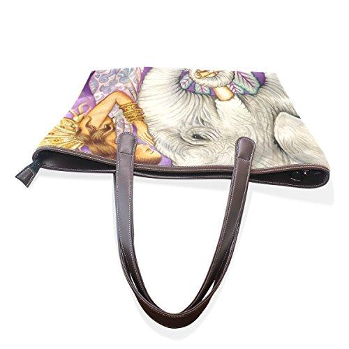 Sacs À Bandoulière Multicolor Cuir Sac tout Fourre Elephant Coosun L Cm Pu En Art 33x45x13 001 Grand Poignée vFfCxwqz