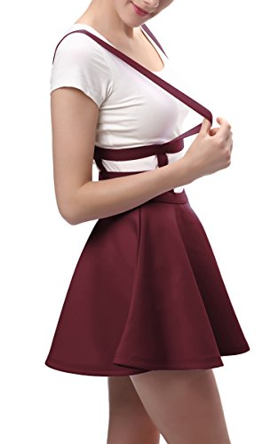 Windsor Elástica Goco Mujeres Para Vino Falda Con Plisada Cintura Urban 8UCZwxqx