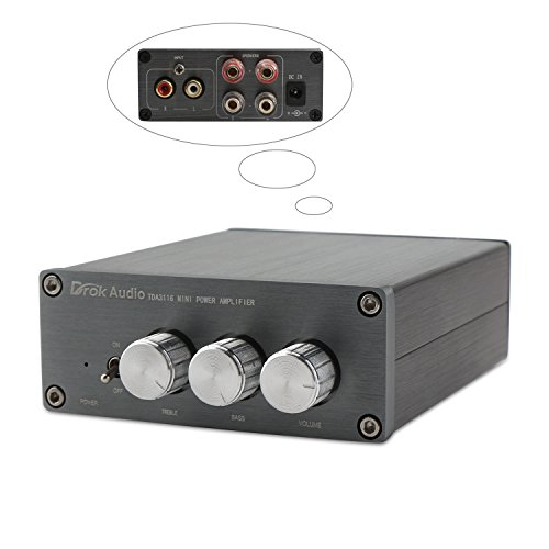 Digital HiFi Stereo 2.0 Power Amplifier Home Mini Audio Amplifier Professional Dual-channel 50W+50W DC8-25V with High&Low Volume Control System