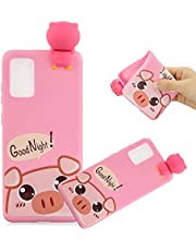 MOIKY Case for Samsung Galaxy A01,Cute 3D Cartoon Pig Print Animal Phone Case Ultra Slim Shockproof Silicone Rubber Bumper Cover Protection Anti-Scratch for Samsung Galaxy A01
