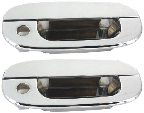 (All Sales 410C Chrome Billet Aluminum Door Handle and Bucket)