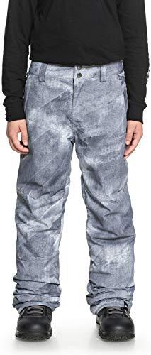 QUIKSILVER Boys' Big Estate Youth 10K Snow Pants, Grey Simple Texture, 14/XL (Xl Boys Size Pants Snow)