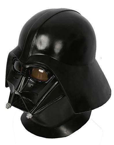 Darth Vader Full Helmet (Darth Vader Helmet Deluxe Latex Cosplay Updated Full Head Black Adult Props)