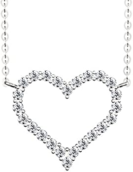 Uhibros 20'' Heart Shape Pendant Necklace