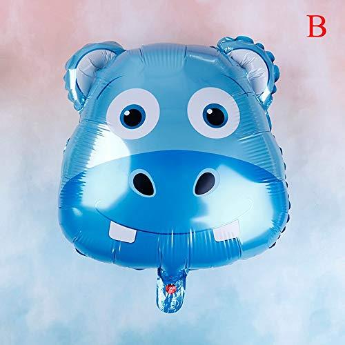 Ballons & Accessories - 2019 1pc 18inch Cartoon Animal Bear Panda Hippo Foil Balloons Inflatable Air Balloon Birthday Baby - Chick Balloon Cartoon Balloon Hippo Birthday Ballet Tigger Mo -