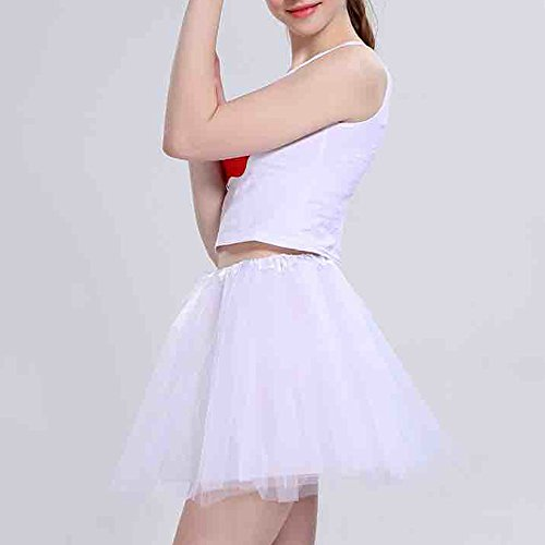 Sottogonne Tulle Donna Danza Tutu Bianco Performance Gonna Principessa Topgrowth Gonna Balletto Gonne Club afqw5Rt