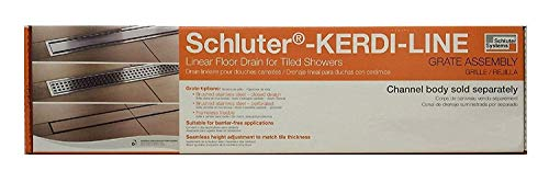 "Schluter Systems Kerdi-Line 3/4"" Frame, 32"" Perforated Grate Assembly (KL1B19EB80)"