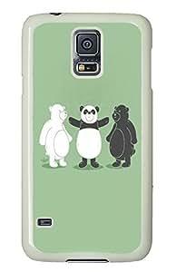 Samsung Galaxy S5 glitter covers Funny Bear PC White Custom Samsung Galaxy S5 Case Cover