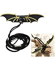Balacoo Adjustable Reptile Lizard Harness Leash Devil Wings Hauling Cable Rope Bearded Dragon Accessories