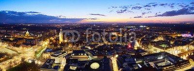 Aluminio-Dibond 3 2 - 60 x 40 cm   40 x 60 cm Desconocido druck-shop24 Panorama Leipzig Night  103946573 - Imagen Sobre Lienzo, póster fotográfico, Cartel de Aluminio, Cristal acrílico, Placa Forex, lámina Adhesiva