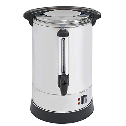 Clevr Coffee Maker Urn 20 Liters | 5.2 Gallons | Up to 135 servings for Events | Commercial Size | Fundraisers, Parties, Weddings, Small Businesses | Extra Large Coffee Brewing Broiler