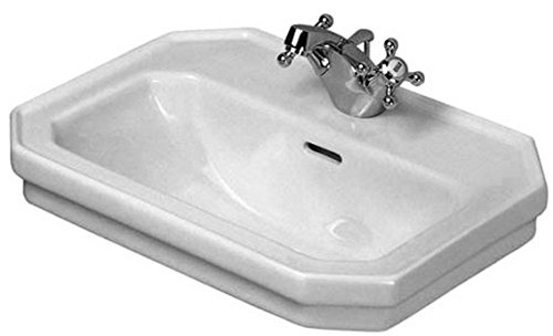 Duravit 0785500000 1930 Series Single-Hole Handrinse Basin, White (Bathroom Vanity Washstand)