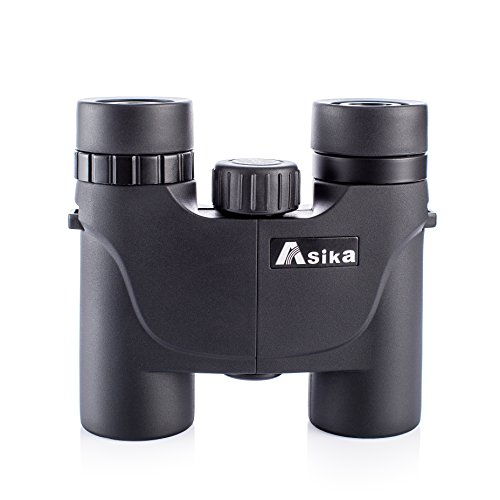 Binoculars, Asika Optics Compact Bird Watching telescope 8X 25 Mini Pocket with Case, Roof Prism For Shooting, Hunting, Hiking by DAJICHENG