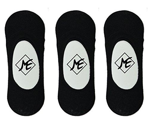 Me Stores Men #39;s Solid Loafer Socks No Show Socks  Pack Of 3   Black