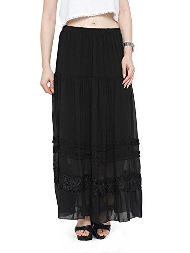 Indian Handicrfats Export Women Full/Ankle Length Blending Maxi Chiffon Long Skirt Beach Skirt