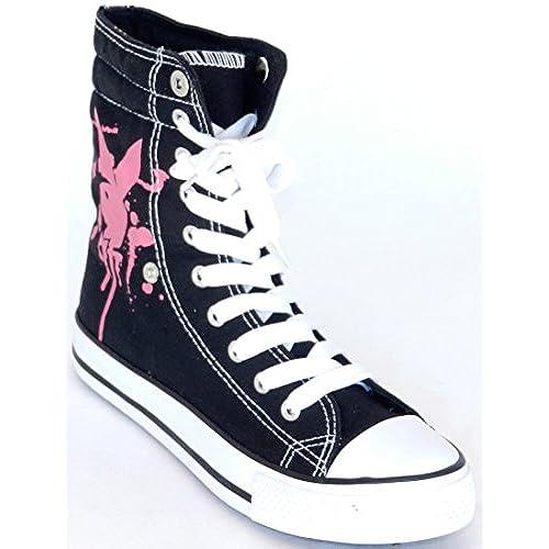 da60e98f5d8 Women New Fashion Dev-14 Play Boy Sexy Style Ankle High Top Fold Down Canvas