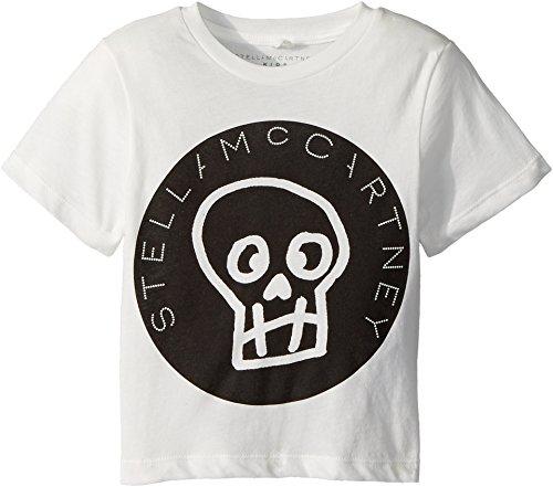 Stella McCartney Kids Baby Boy's Arrow Short Sleeve Skull T-Shirt w/Logo Lettering (Toddler/Little Kids/Big Kids) White 2T (Toddler)