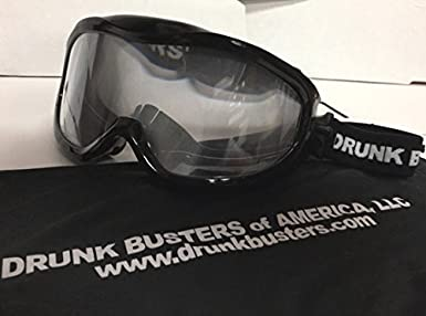 Drunk Busters of America 080200BKBD BAC - .08-.15 Drunk Busters Impairment Goggles black strap