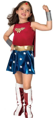 [Super DC Heroes Wonder Woman Child's Costume, Small] (6 Character Halloween Costumes)