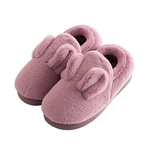 Couleur Chauds Chaussures Antidérapante Amateurs 38 Cotton de Lady Hiver Épais Pattern Taille 39 Soins de Maison Plancher Slipper EUR 4 Chaussons L'Intérieur SvZqx