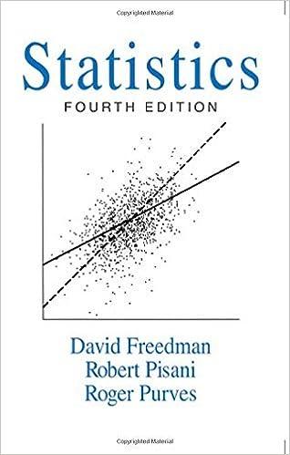 statistics fourth edition 4 david freedman robert pisani roger