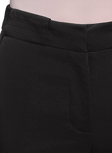 Donna con Piega Nero Pantaloni Collection oodji 2900n Aderenti w45FISgq