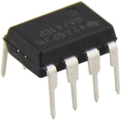 Hrph 10 pcs New Line UA741 LM741 17741 IC OP AMP Compensated DIP-8